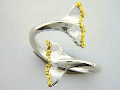 R077  Whale Tail Adjustable Ring