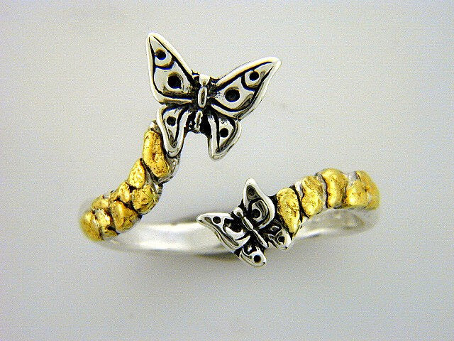 R078  Butterfly Adjustable Ring