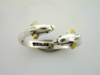 R079  Dolphin Small Adjustable Ring