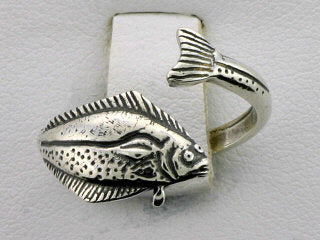 R130  Ring Adj. Halibut Silver Adjustable Ring