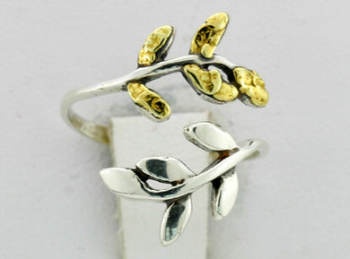 R139  Ring Silver & Nuggets