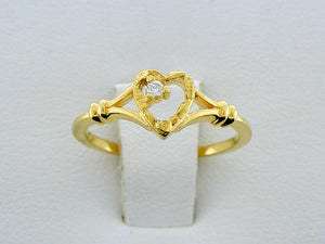 R372  Heart Diamond Ring 14kt