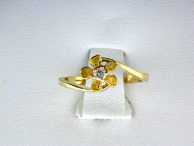R376  Forget Me Not Diamond Ring 14kt