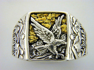 RM1  Eagle Mens Ring