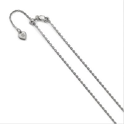 Chain Adjustable Silver Cable 22""