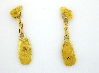 EJ300 One Nuggets Dangle Earring