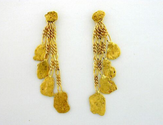 EJ304 Four Nuggets Dangle Earring
