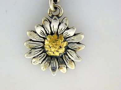 C037  Flower with Medium Charm with Nuggets