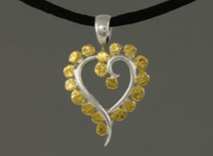 N333S  Heart Nuggets Necklace