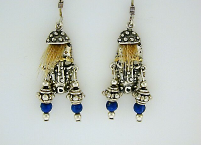 EW071  Alaskan Spirit Mask Earring Wires