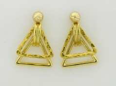EJ406  Ear Jacket Triangle 14kt