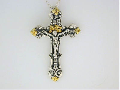 N030  Cross/Christ Large Fancy Neck