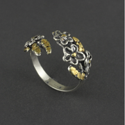 R042  Wild Rose Adjustable Ring