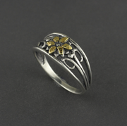 R02272  Flower Cluster Silver Ring