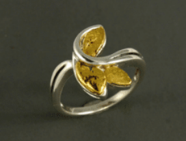 R320S/ 2.8  Silver Fancy Nuggets Ring 2.8 dwt