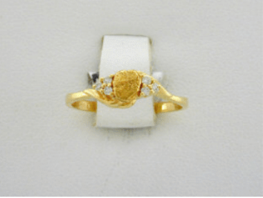 R361/1.2  14kt Nuggets & Diamond Ring 1.2
