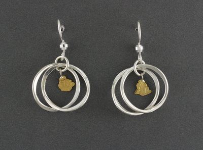 EW132  Wires Cage Silver Earring Wires