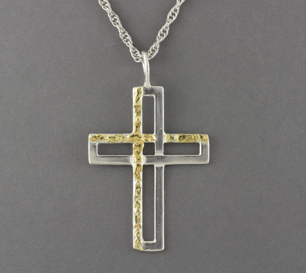 N194  Liniar Cross with Nuggets on One Side