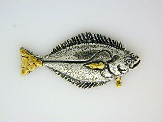 TT013  Halibut Large Tie Tack