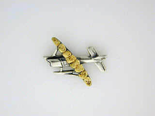 TT024  Airplane Large Tie Tack