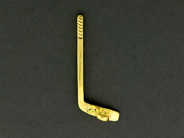 TT501  Stick with/Puck Large 14kt with Nuggets