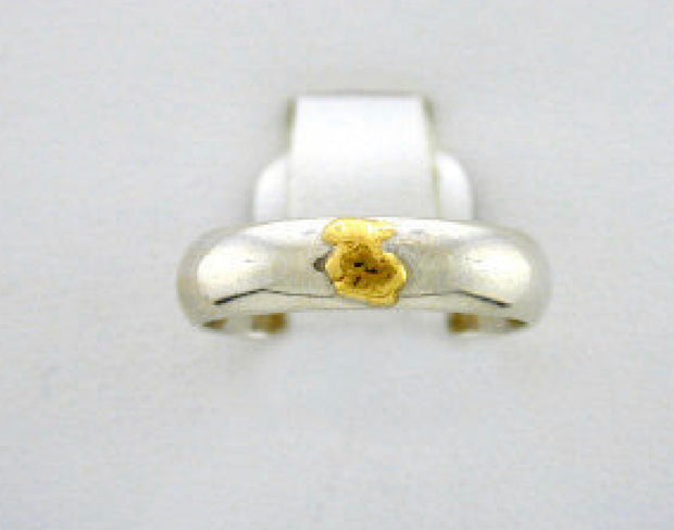 R089  6mm Band with Nuggets Ring