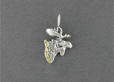 NTT017  Moose Head Necklace