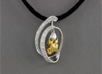 N822SCZ  Pendant Silver with/CZ