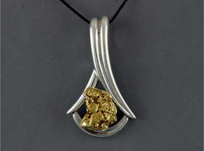 N821S  Pendant Sterling & Nuggets