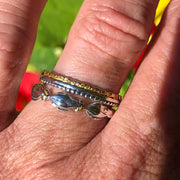 R179-6  Silver Halibut Stackable Silver Ring
