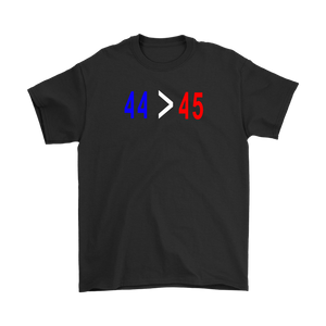 44 is greater than 45 T-shirt