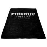 Fired Up Garage Dallas Texas Fleece Blanket