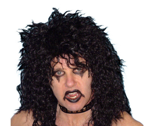 Alice Rocker Mullet  Wig -  Black