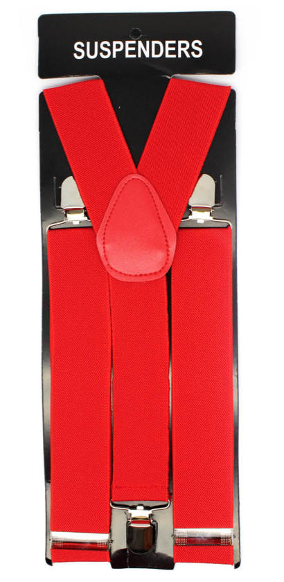 Suspenders - Red Wide