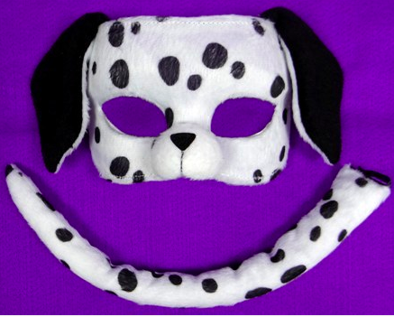 Dalmation Mask and Tail Set