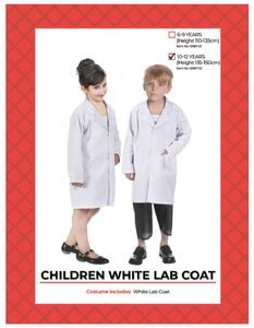 Kids Lab Coat 6-9 Years