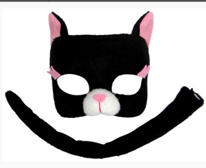 Cat Mask and Tail Set