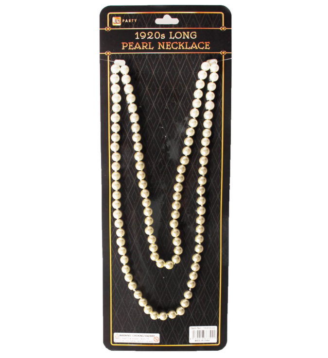 Pearl Necklace Long - White