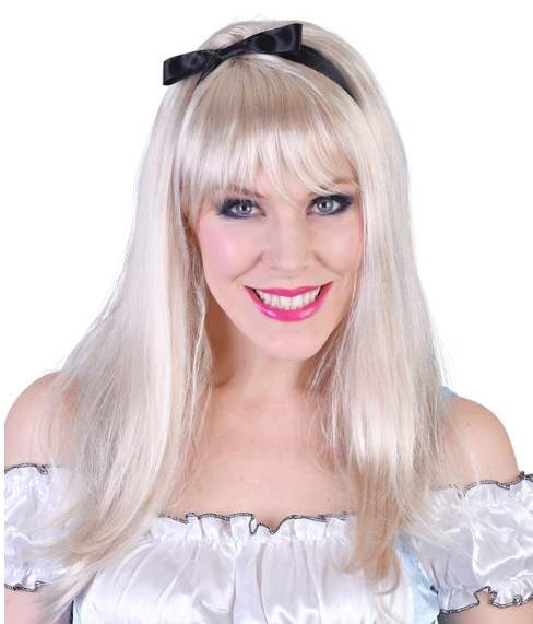 Alice Wig - Long Blonde with Fringe