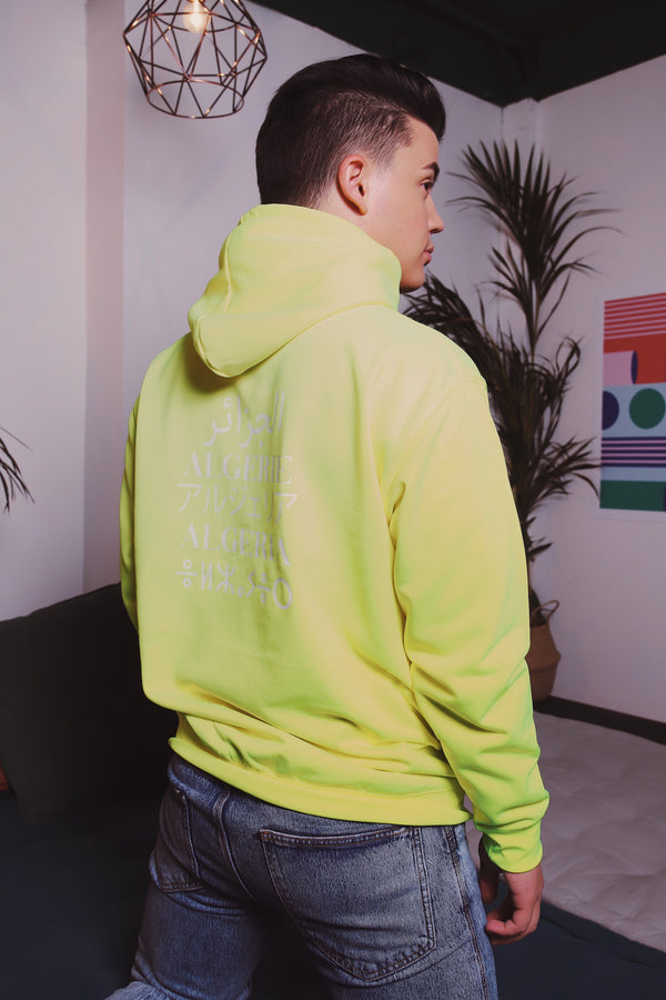 "Sweat Capuche - ""Made In "" Neon"