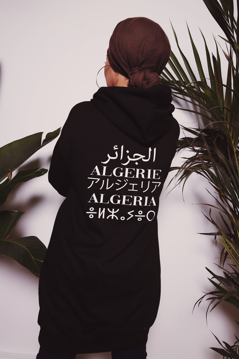 "Robe Sweat Capuche - ""Made In "" Noir"