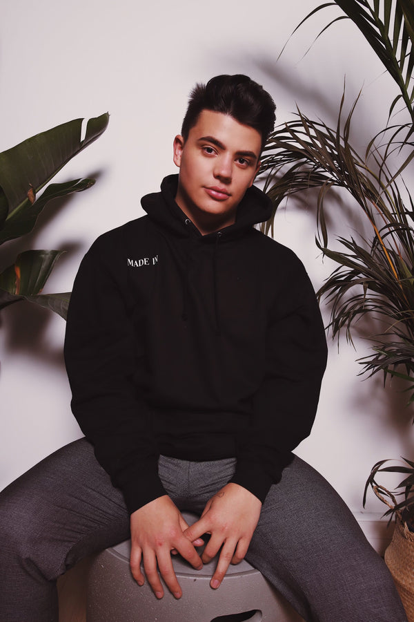 "Sweat Capuche - ""Made In ""Noir"