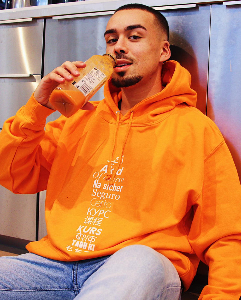 "Sweat Capuche Homme ""Akid"" Orange"