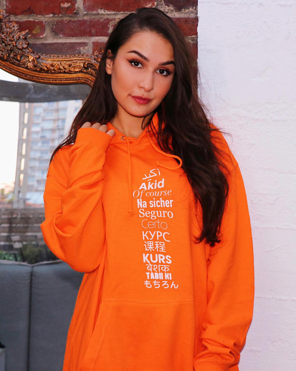 "Sweat Capuche Femme ""Akid"" Orange"