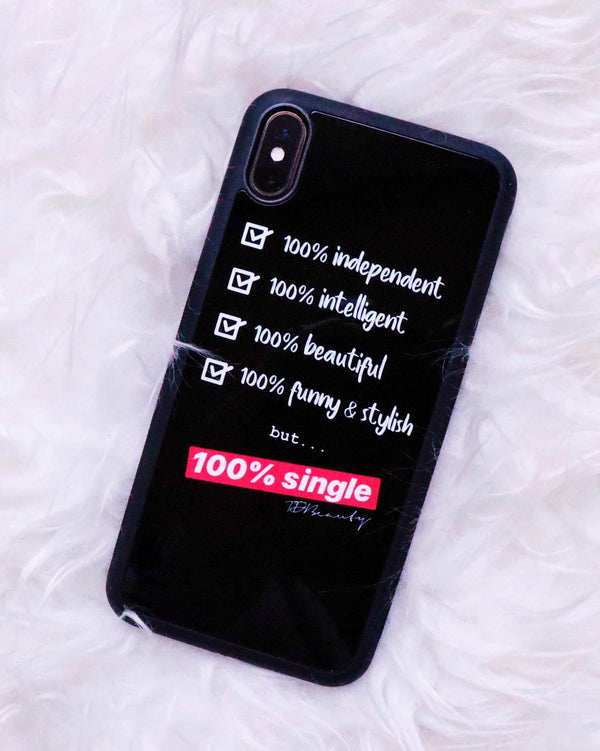 "Coque de telephone ""100% Single"" iPhone"