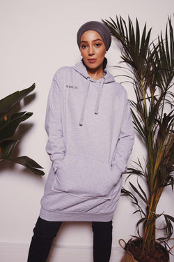 "Robe Sweat Capuche - ""Made In ""Gris"