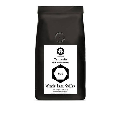 f-stop coffee f/5.6 light medium roast tanzania