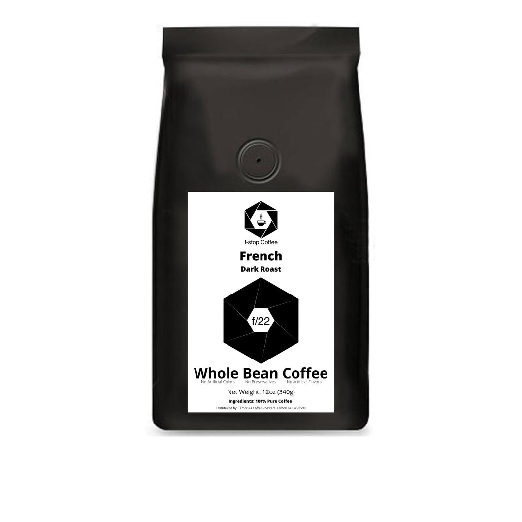 f-stop coffee f/22 dark roast french
