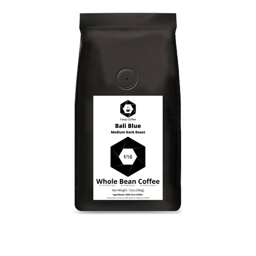 f-stop coffee f/16 medium dark roast bali blue