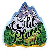 Wild Places Sticker
